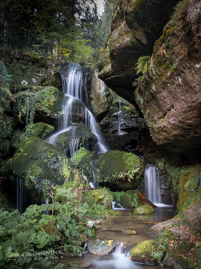 Lichtenhainer Wasserfall im Kirnitzschtal / Sachsen
